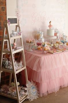 Little Wish Parties - Blog: Winter Wonderland Ballerina Partyby Sweet Bambini Event Styling