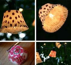 Cupcake papers can work too. | 24 Clever DIY Ways To Light Your Home
