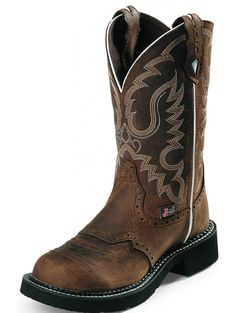 JUSTIN BOOTS AGED BARK WESTERN BOOTS FOR WOMEN L9909