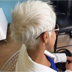 white blonde messy pixie