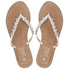 b4cd2dc47e99de M Co Teardrop Diamante Flip Flops (355 ZAR) ❤ liked on Polyvore featuring  shoes