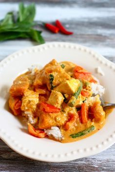 This sounds so, so delicious - kabocha squash red curry.  Just wish I could find better curry paste in Port Townsend...