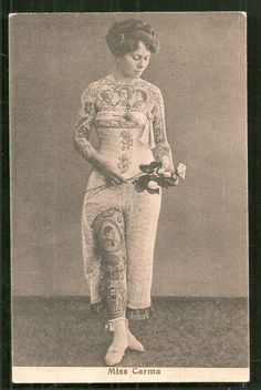 Miss Carma full body Tattoo Circus Germany ca 1910