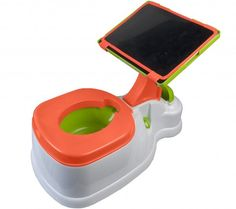 When is too soon to start potty training your child? When is too soon to get your child an iPad? I'm not sure, but you can combine both and kill two birds with one stone with this iPotty with Activity Seat for iPad. Potty Training Humor, Potty Training Seats, Potty Seat, Toilet Training, Potty Chair, Training Tips, Baby Gadgets, Cool Gadgets, Kids Gadgets