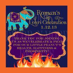 Lohri bonfire indian punjabi baby celebration by molsdesigns 1st lohri favor tags stopboris Image collections