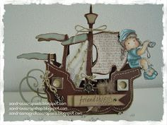 Sandra's Scrapshop: # 36 Schip patroon / Ship template