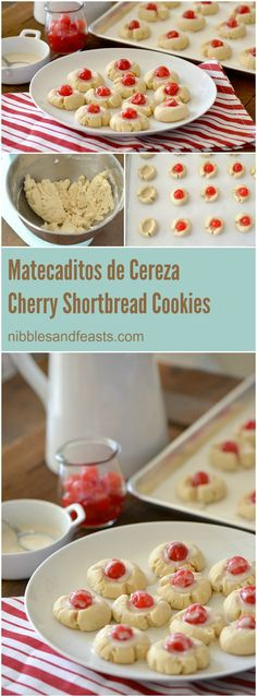 Mantecaditos de Cereza. These cherry shortbread cookies are great to make with children. Simple to prepare and quick to assemble, these special sweets will be the hit of the bake sale.