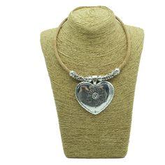 Liège naturel grand coeur collier avec ruban tube femmes originaux faits main en bois bijoux N 91 dans Pendentif Colliers de Bijoux et Accessoires sur AliExpress.com | Alibaba Group