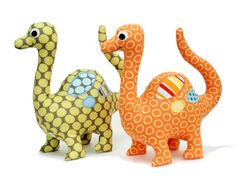Dinosaur softie sewing pattern from Angel Lea Designs. At @GoToPatterns