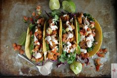 Chipotle Shrimp Tacos - Heather Christo