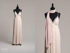 84ec773026b Das perfekte Hippie Hochzeitskleid für eine Strandhochzeit oder Trauung im  Grünen. Brigitte Bardot hätte dieses unkonventionelle Kleid sicherlich  geliebt.
