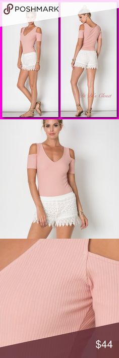 """SALE🎓Bodysuit! 🆕 Off the shoulder V neck bodysuit. A must have! ⭐️Ribbed ⭐️2 Button Closure-Full Bottom(a bit cheeky style) ⭐️96% Cotton 4% Lycra ⭐️Great Fit ⭐️Measurements Given Upon Request 🚫Trades/ or LowBall Offers *️⃣Price Firm Unless Bundled   (If """"applicable""""this item includes sales tax  to the nearest mil') Tops"""