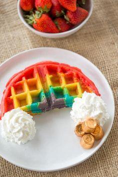Belgian Rainbow Waffles will make your St. Patricks Day  Mein Blog: Alles rund um Genuss & Geschmack  Kochen Backen Braten Vorspeisen Mains & Desserts!