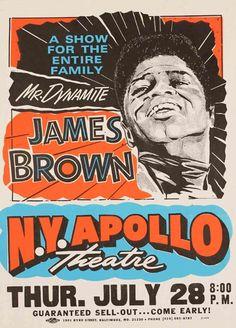 globe poster, baltimore     A James Brown poster, reprint 1995.