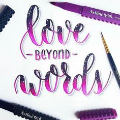 Love beyond words for day 6 of Hand Lettering Calligraphy Tutorial, Hand Lettering Tutorial, How To Write Calligraphy, Calligraphy Handwriting, Calligraphy Quotes, Calligraphy Letters, Caligraphy, Brush Lettering Worksheet, Brush Lettering Quotes