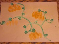 Knuckle hand print pumpkin patch craft for kids