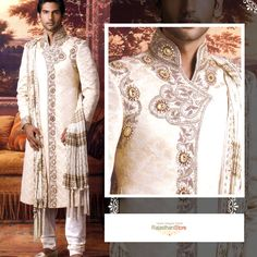 The details on this Sherwani are dazzling.