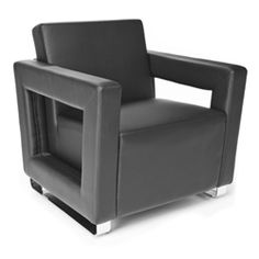 This comfortable lounge chair sure has a unique design. #loungechair #coolchair #graychair