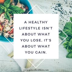Healthy lifestyle is all about gaining!