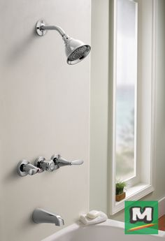 Improve Your Bathroom With A Moen® Adler 3 Handle Tub/Shower Faucet.