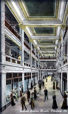 Interior of Jenkins Arcade, corner of Fifth, Liberty and Penn Avenues, Pittsburgh, PA. My mother worked here Best Places To Live, Great Places, Places To Visit, Pennsylvania History, Pittsburg Pennsylvania, Pittsburgh City, Pittsburgh Neighborhoods, Best Cities, My Kind Of Town