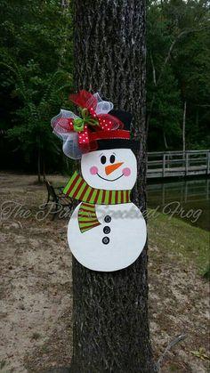 Accroche-porte bonhomme de neige