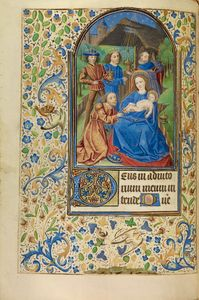 The Adoration of the Magi, French, about 1466 - 1470 Ms. Ludwig IX 11, fol. 57v