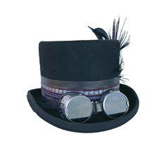 FUTURA HATS - Steampunk hatter Fantasy clothing | Etsy Festival Hats, Festival Fashion, Porky Pie, Steampunk Hat, Boho Hat, Costume Hats, Black Feathers, Alternative Fashion, Hats For Men