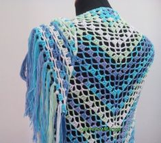 Crochet Shawls And Wraps, Crochet Scarves, Summer Triangle, Lace Wrap, Wedding White, Cowls, Fringes, Infinity, Prayer