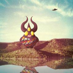 Juan Carlos Paz aka Bakea - Mostri illustrati in paesaggi fotografici