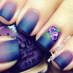 awesome nail art #nail #unhas #unha #nails #unhasdecoradas #nailart #gorgeous #fashion #stylish #lindo #cool #cute #fofo #ombre #roxo #purple