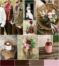 Rustic Romantic Wedding Inspiration in Berry | Bajan Wed - http://bajanwed.com/rustic-romance-wedding-inspiration/