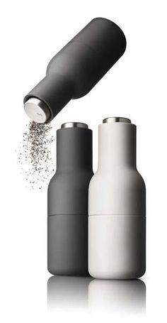 Ceramic Salt & Pepper Bottle Grinder Set, by Norm (DK) design Minimal Design, Modern Design, Aesthetic Design, Design Presentation, Design Digital, Design Poster, Bottle Packaging, Küchen Design, Bottle Design