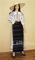 Romanian folk costume for women, 100% handmade