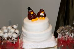 we had virginia tech wedding cake toppers, go hokies!
