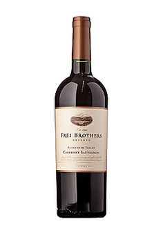 Frei Brothers Cabernet Reserve - Very dry and very good!  This was our first choice for wine at our wedding, but was of course no longer available!  We substituted Hawk's Crest cab instead.  It was a close comparison.