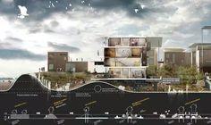 10 Architecture Portfolios for Design Inspiration Architecture Panel, Architecture Graphics, Architecture Visualization, Architecture Student, Architecture Drawings, Concept Architecture, Architecture Diagrams, Architecture Design, Architecture Presentation Board