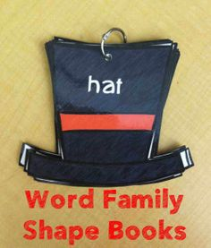 Word Family Shape Books- The A Family 1st Grade Activities, Name Activities, English Activities, Language Activities, Reading Activities, Craft Activities For Kids, Kindergarten Activities, Classroom Activities, Classroom Ideas