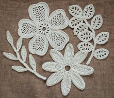 Outstanding Crochet: Irish Crochet Motifs. Pattern at Irish crochet Lab... not free pattern