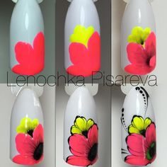 Choose from an Amazing Array of Nail Art Design New Nail Art, Nail Art Diy, Easy Nail Art, Diy Nails, Cute Nails, Pretty Nails, Manicure, Floral Nail Art, Nail Decorations
