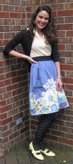 Cassie Stephens - who makes adorable skirts and dresses, with an artist-y, vintage feel!