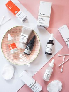 This looks so chic! Love all the monochrome packaging against the blush pink. Gorge flatlay