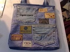 Great ideas on this site for a diy jeans bag