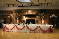1950s wedding reception ideas | ideas on how to decorate wedding party table