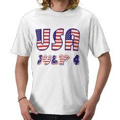 Fourth 4th of July USA flag t-shirt #FourthofJuly #tshirt
