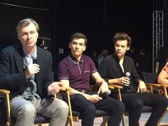Harry, Christopher Nolan, Fionn Whitehead and Emma Thomas at the Dunkirk press junket, July 9th, 2017