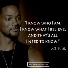 Will Smith inspirational image, know yourself