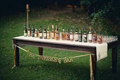 Vintage Wedding Decor Idea.. love the idea of a whiskey bar