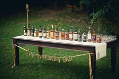 Vintage Wedding Decor Idea.. love the idea of a whiskey bar