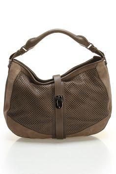 931f2955f72ef8 Burberry Perforated Hobo In Pebble - Burberry Handbags, Prada Handbags,  Roman Fashion, Simple